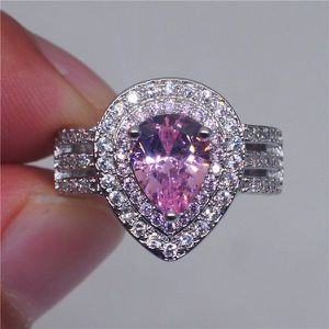 NEW Pear Shape Pink Diamond Ring for Women Anniversary Wedding Engagement Promise Ring for Sale in Las Vegas, NV
