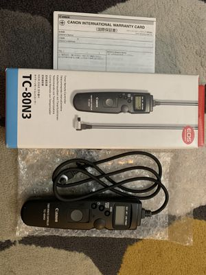 Canon TC-80N3 timer remote controller for Sale in Houston, TX