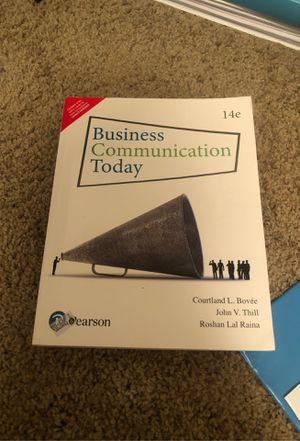 Business Communication Today 14th edition for Sale in Lincoln, NE