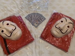2- Costumes with play money 💵 for sale for Sale in Houston, TX