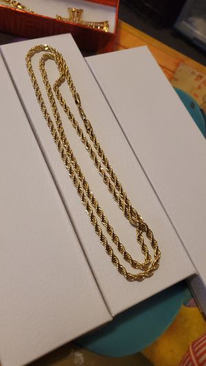 30 inch 14k Gold plated rope chain for Sale in Los Angeles, CA