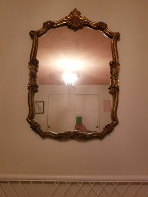 Antique gold mirror for Sale in Gig Harbor, WA