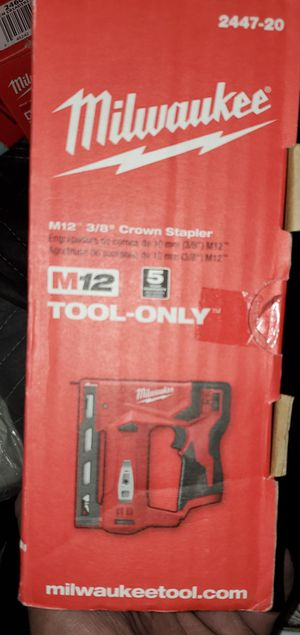 Milwaukee M12 Cordless Stapler for Sale in Yucaipa, CA