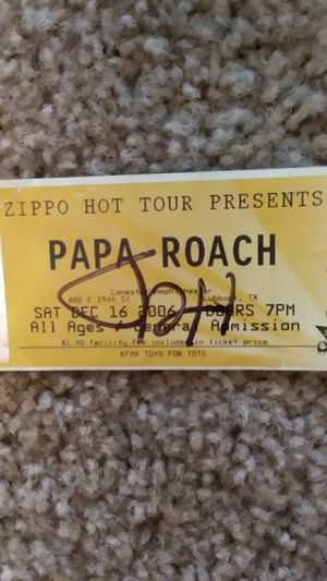 Jacoby Shaddix signed concert ticket for Sale in Lubbock, TX