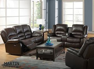 Brand new leather recliner sofa and love seat Financing available no credit needed on sale for Sale in Deerfield Beach, FL