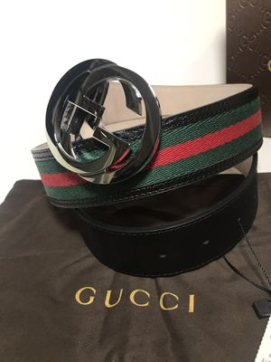 Gucci Classic Black Webbed Belt *Authentic for Sale in Queens, NY