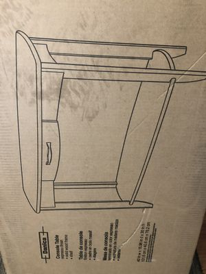 Console Table Dark Wood 40x16x30 brand new in sealed box for Sale in Glendale, AZ