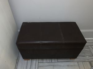FREE Used Leather Storage Ottoman for Sale in Edgewater, NJ