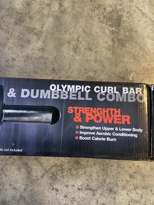 Olympic curl bar and dumbbells combo for Sale in Lynnwood, WA
