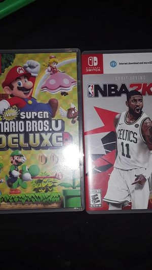 Mario bros U and NBA 2k18 for Nintendo switch for Sale in Phoenix, AZ