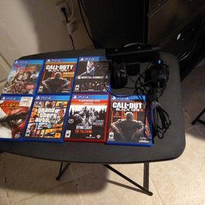 Ps4 Games And Camera, Plus A Scuff Headphone , for Sale in Maricopa, AZ