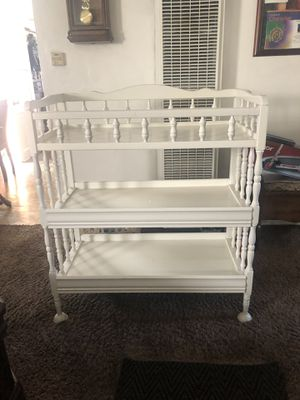 solid white wood baby changing table for Sale in Norwalk, CA