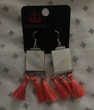 Coral and marble stone earrings for Sale in Dagsboro, DE
