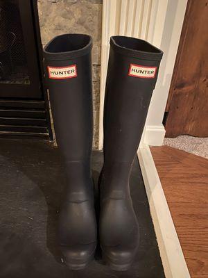 Tall Hunter Rain boots- matte navy blue for Sale in Ashburn, VA