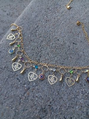 """Gold ankle bracelet $15 """"hearts"""" for Sale in San Diego, CA"""