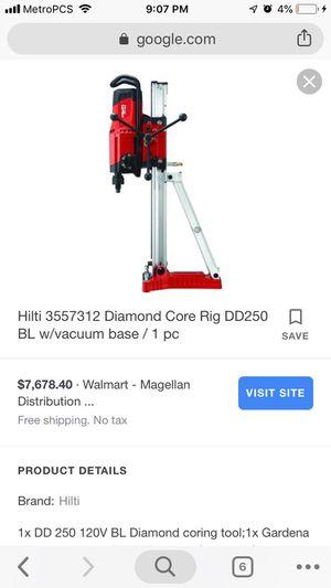 Hilti DD250 Diamond Coring Drill Unit W/ Bit Vacuum for Sale in Key Biscayne, FL