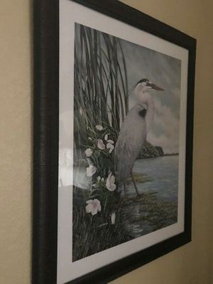 Large framed Egret print for Sale in Cape Coral, FL
