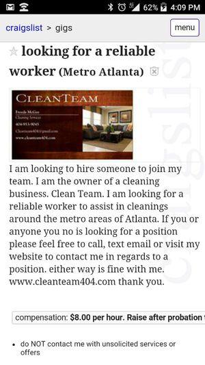 Reliable worker's for Sale in Atlanta, GA