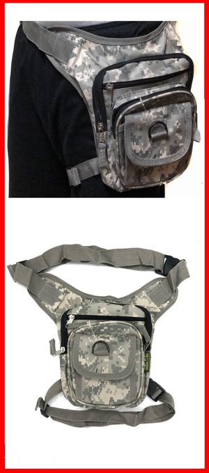 NEW! Camouflage holster Style drop leg bag waist hip fanny pack motorcycle biking work construction hiking camping thigh bag pouch for Sale in Carson, CA