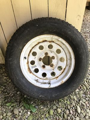 Trailer tire and wheel for Sale in Cecil, PA