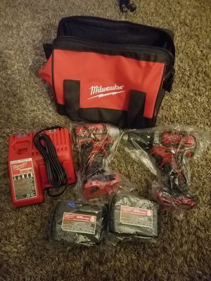 Impact and drill milwaukee 18V new with two batterys, charger and case. for Sale in Kent, WA
