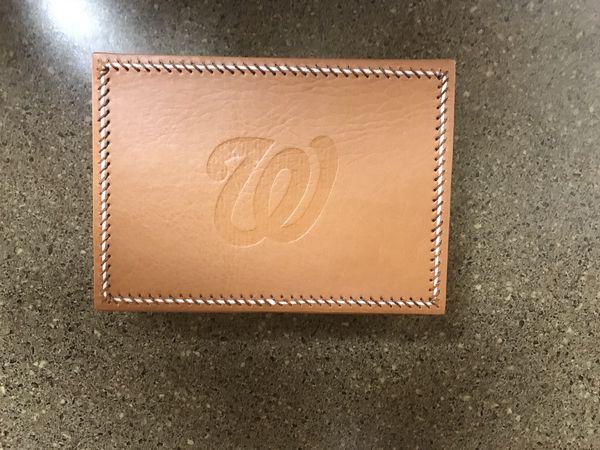 Washington Nationals leather organizer