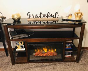 Tv stand with fireplace for Sale in St. Peters, MO