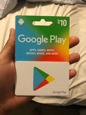 $10 google play cards for Sale in Apollo Beach, FL