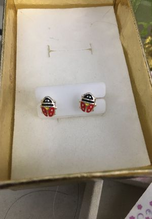 Girls silver earrings for Sale in Odessa, FL