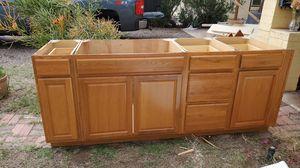 Solid Oak Cabinets....5 drawers.. for Sale in Phoenix, AZ