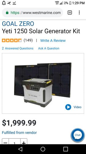 Portable solar powered generator with two extrasolar panels for Sale in Oxnard, CA