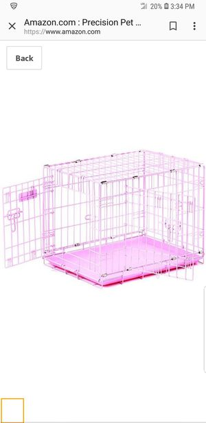 Pink Dog crate ...like new for Sale in Miami, FL