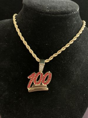 "Pendant Necklace (Keeping ""100"")18kt Gold Plated Charm (Please Read Description) morning for Sale in Seattle, WA"