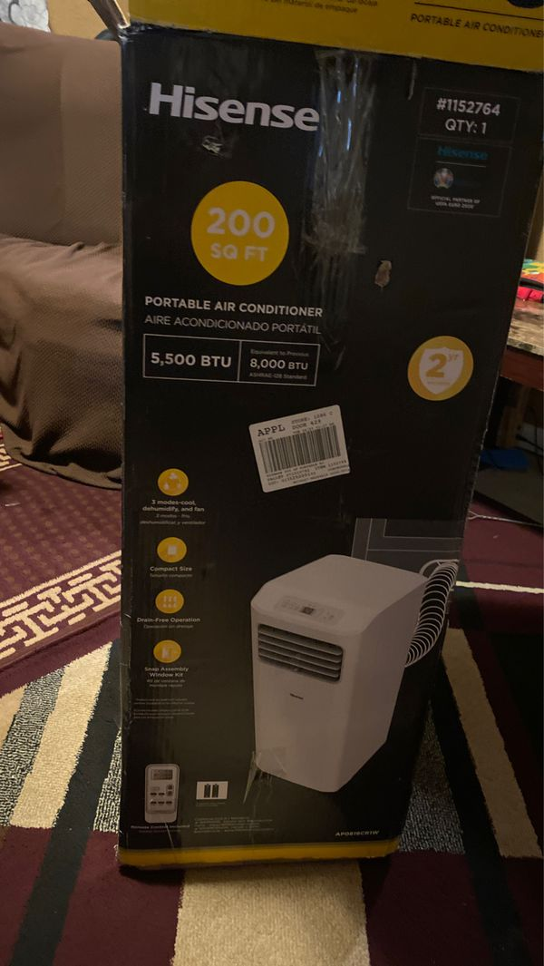 Hisense Portable Air Conditioner 200 SqFt