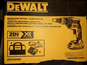 Dewalt Brushless Drywall Screwgun kit for Sale in Bakersfield, CA