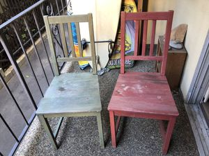 2 IKEA pine chairs for Sale in Los Angeles, CA