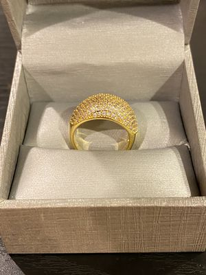 18K Gold plated Engagement Ring- Highly Sparkling- Code E1090 for Sale in Washington, DC
