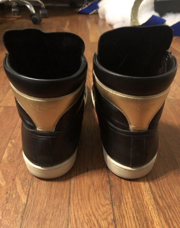 Men's Saint Laurent sneakers paid $695 size 12 authentic with Box! Good condition originally purchased a Saks