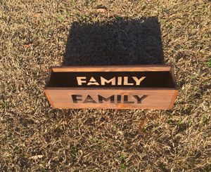 FAMILY Wood Box/Centerpiece for Sale in Center Point, AL
