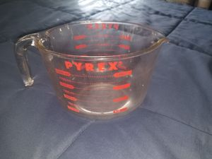 Antique giant red numbered 2 quart Glass pourable pyrex for Sale in Leominster, MA