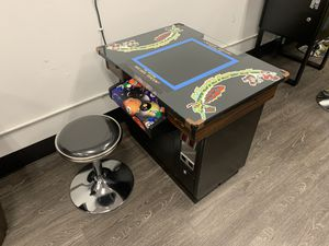 Custom Built Arcade With 60 Games - Pacman Galaga Space Invaders etc - Stools Included - CHIEF BILLIARDS for Sale in Fullerton, CA