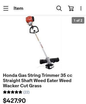 Honda Gas String Trimmer 35 cc Straight Shaft Weed Eater Weed Wacker Cut Grass it's a 4 stroke for Sale in Fresno, CA