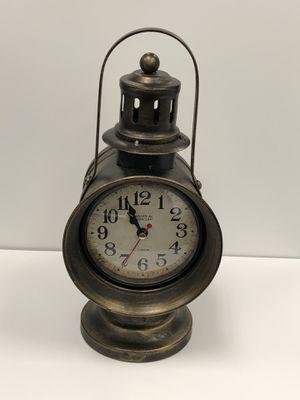 Desk Lantern Table Clock Antique Vintage size approximately 12 H x 7 Wx 5 L for Sale in Orange, CA