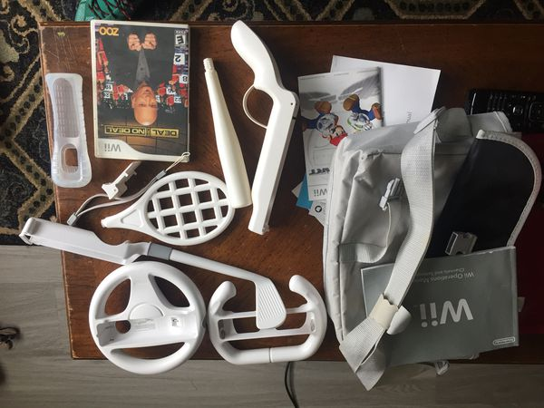 Wii accessories and one game
