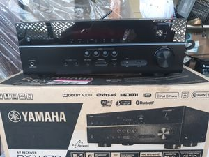 Yamaha 5.1 channel Dolby and DTS-HD 4k Ultra HD stereo receiver with Bluetooth and Music Cast connecting wirelessly to Pandora, Spotify and Juke. for Sale in Bellingham, WA
