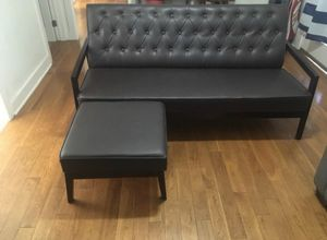 Leather Couch & Ottoman for Sale in Los Angeles, CA