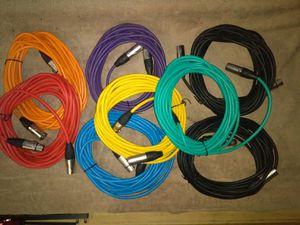 Cables de microfono de colores 25 ft for Sale in Vernon, CA