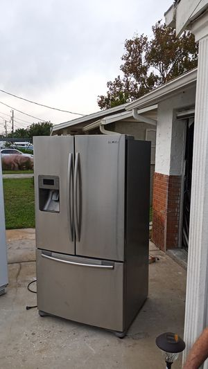 Samsung French door refrigerator stainless steel side by side for Sale in Hudson, FL