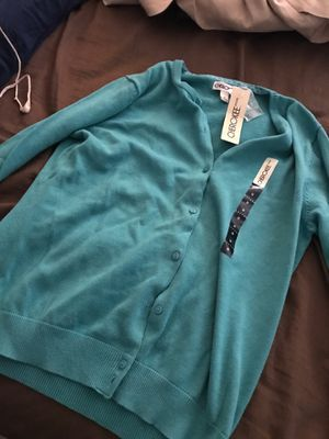 Cherokee cardigan button up medium women new aqua for Sale in Silver Spring, MD