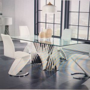 SALE $1350 DINING ROOM SET CHROME GLASS TABLE + 4 CHAIRS for Sale in Oak Lawn, IL